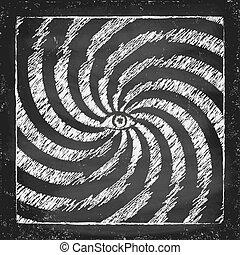 Vintage hypnotic poster