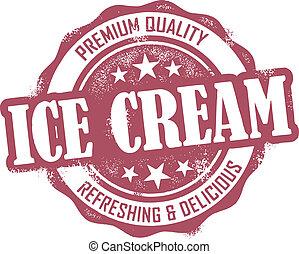 Vintage style distressed Ice Cream dessert stamp.