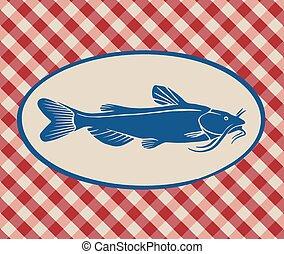 Vintage illustration of catfish