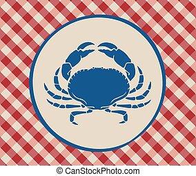 Vintage illustration of crab