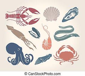 Vintage illustration of crustaceans