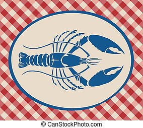 Vintage illustration of lobster