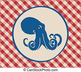 Vintage illustration of octopus