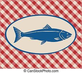 Vintage illustration of salmon
