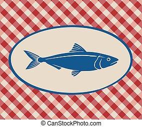 Vintage illustration of sardine