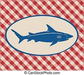 Vintage illustration of shark