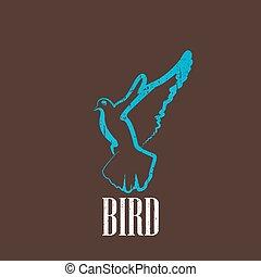 vintage illustration with a bird