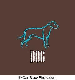 vintage illustration with a dog