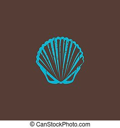 vintage illustration with a shell