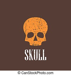 vintage illustration with a skull