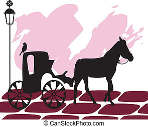 vintage image carriage - Is a illustration in a EPS file.