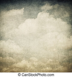 vintage image of cloudy sky