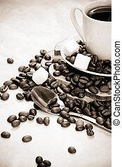 vintage image of coffee