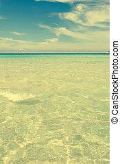 vintage image of sea retro effect