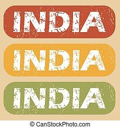 Vintage India stamp set