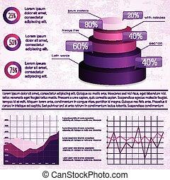 Vintage infographics set