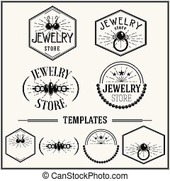 Vintage insignias and logotypes set - Retro insignias and...