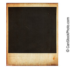 Vintage instant photo frame isolated on white