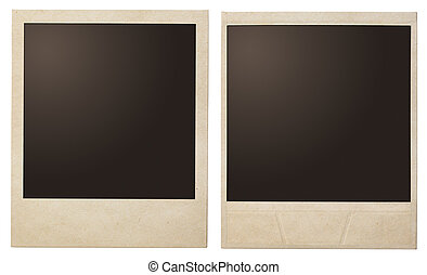 Vintage instant photo polaroid frames isolated