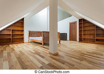 Vintage interior in the attic
