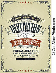 Vintage Invitation Background - Illustration of a vintage...