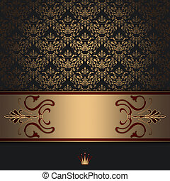 Invitation Card Design Abstract Background With Vintage Pattern