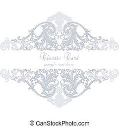Vintage Invitation Card or banner