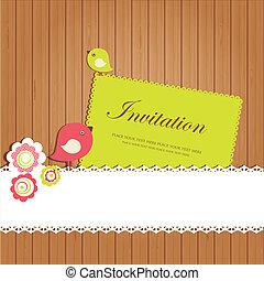 Vintage invitation card