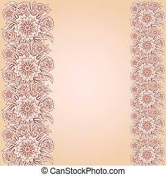 Vintage invitation floral card