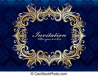 Vintage invitation frame design