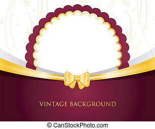 Vintage Invitation with bow