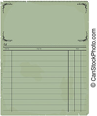 Vintage invoice - Blank vintage invoice. Vector without...
