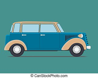 Vintage Isolated car.