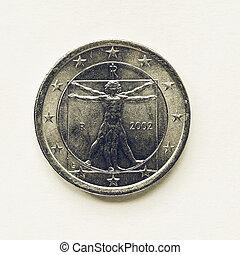 Vintage Italian 1 Euro coin