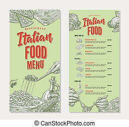 Vintage Italian Food Restaurant Menu Template - Vintage...