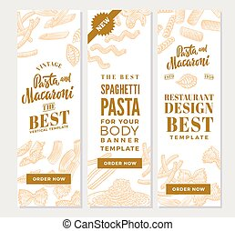 Vintage Italian Pasta Vertical Banners