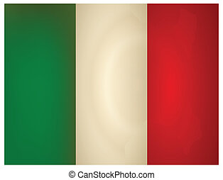 Vintage Italy Flag. Vector illustration.