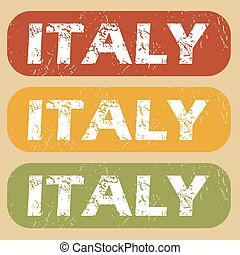 Vintage Italy stamp set