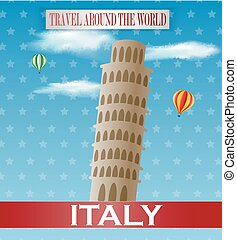 Vintage Italy Travel vacation poste