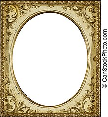 Vintage Ivory Frame - Ornate vintage ivory-colored frame