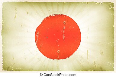 Vintage Japan Flag Poster Background
