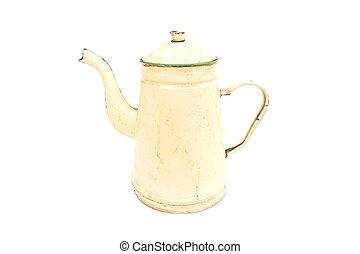 vintage jar on isolated