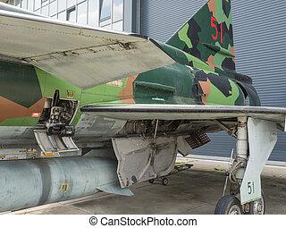 Vintage jet fighter - Side view of a Saab Viggen jet fighter...