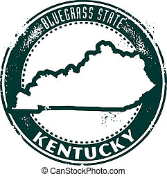 Vintage Kentucky USA State Stamp