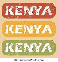 Vintage Kenya stamp set