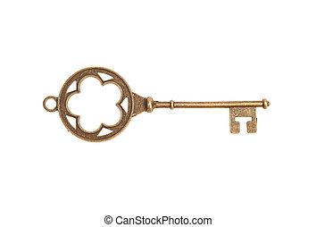 Vintage Key isolated on white