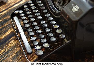 vintage keyboard of writing machine