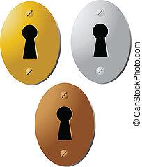 vintage keyhole illustration color vector