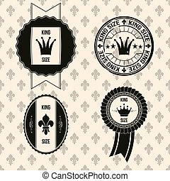 vintage king size badges