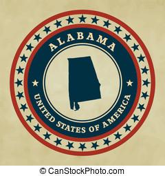 Vintage label Alabama